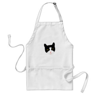 Smiling Cat Face Adult Apron