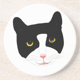 Smiling Cat Face Coaster