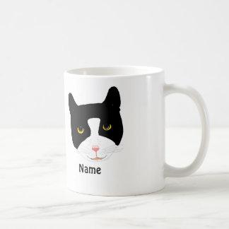 Smiling Cat Face Mug add name