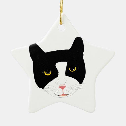 Smiling Cat Face Ornament