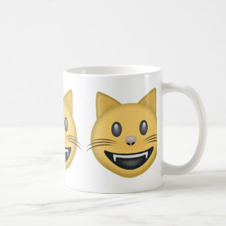 Smiling Cat Face With Open Mouth Emoji Coffee Mug