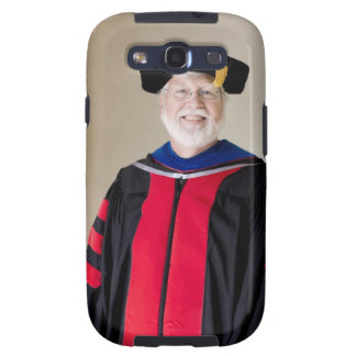 Smiling Caucasian profession in formal robe Galaxy SIII Covers