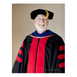 Smiling Caucasian profession in formal robe Postcard