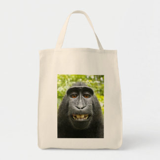 Smiling Celebes Macaque Monkey Tote Bag