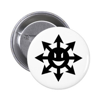 Smiling chaos star pinback button