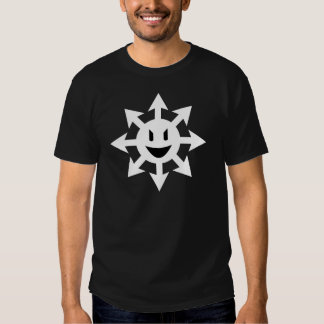 Smiling chaos star t-shirts