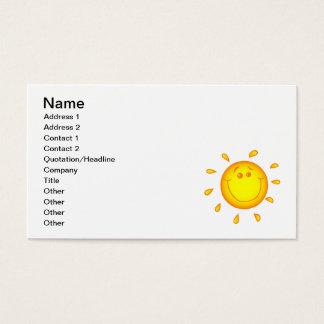 SMILING CHEERFUL SUNSHINE SUN HAPPY SUMMER BUSINESS CARD