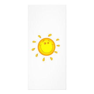 SMILING CHEERFUL SUNSHINE SUN HAPPY SUMMER RACK CARD