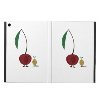 Smiling cherry and little cherry pit iPad air cover