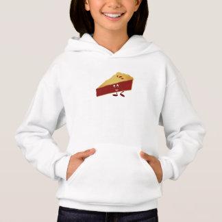 Smiling cherry pie slice hoodie