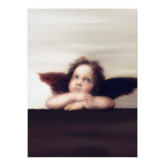 Smiling Cherub Angel Boy Personalized Invite