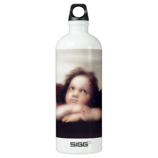 Smiling Cherub Boy Sistine Madonna Remake Aluminum Water Bottle