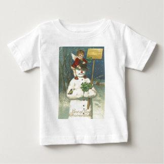 Smiling Cherub Snowman Shamrock Songbird Baby T-Shirt
