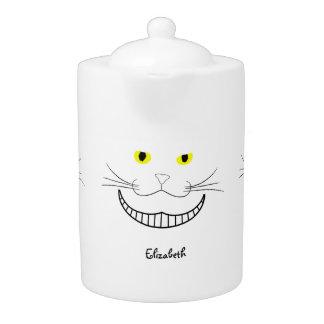 Smiling Cheshire Transparent Cat Teapot