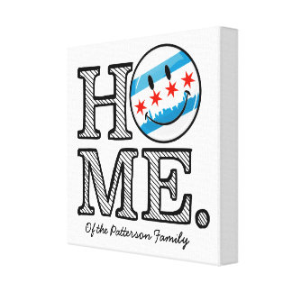 Smiling Chicago Flag Housewarmer Canvas Print