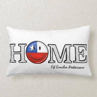 Smiling Chilean Flag House Warmer Lumbar Pillow