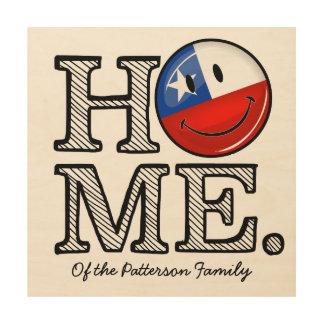 Smiling Chilean Flag House Warmer Wood Print