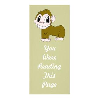 Smiling Chimpanzee Bookmark Template Rack Card