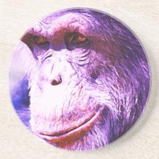Smiling Chimpanzee Drink Coaster