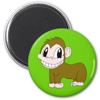 Smiling Chimpanzee Magnet