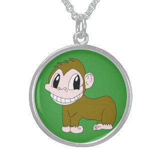 Smiling Chimpanzee Necklace