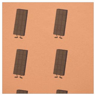 Smiling chocolate bar fabric