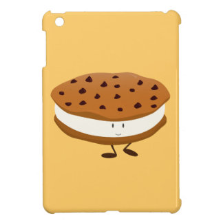 Smiling chocolate chip cookie sandwich iPad mini cases
