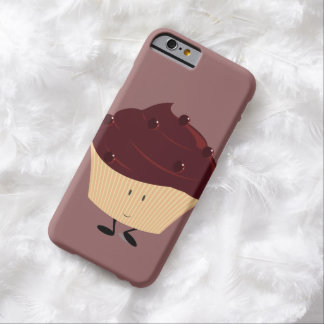 Smiling chocolate frosted cupcake barely there iPhone 6 case