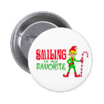 Smiling Christmas Elf 2 Inch Round Button