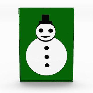 Smiling Christmas Snowman Decoration Acrylic Award