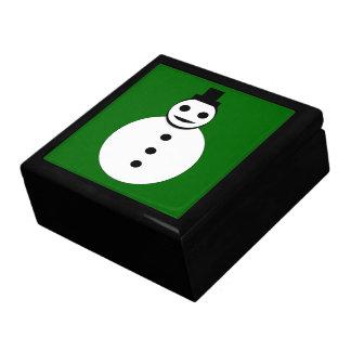Smiling Christmas Snowman Gift Box