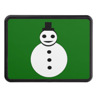Smiling Christmas Snowman Hitch Cover