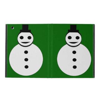 Smiling Christmas Snowman iPad Case