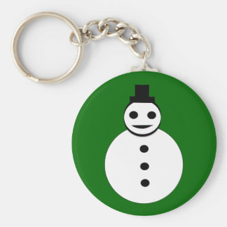 Smiling Christmas Snowman Keychain
