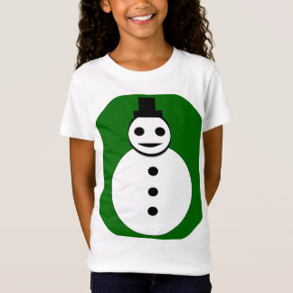 Smiling Christmas Snowman Kids T Shirt