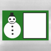Smiling Christmas Snowman Magnetic Dry Erase Sheet
