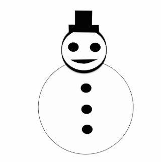 Smiling Christmas Snowman Photo Sculpture