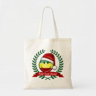 Smiling Christmas Style Rastafarian Flag Tote Bag