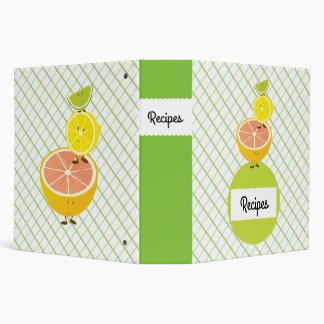 Smiling Citrus Fruits Binder