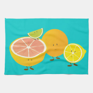 Smiling citrus group towel