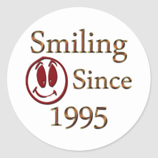 Smiling Classic Round Sticker