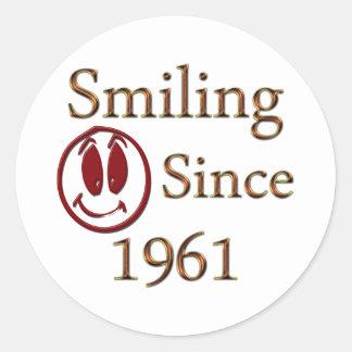 Smiling Classic Round Sticker