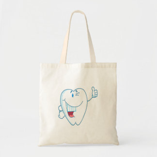 Smiling Clean Tooth Cartoon Character Thumbs Up.ai Tote Bag