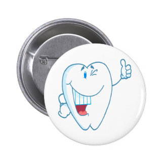 Smiling Clean Tooth Cartoon Character Thumbs Up.ai Buttons