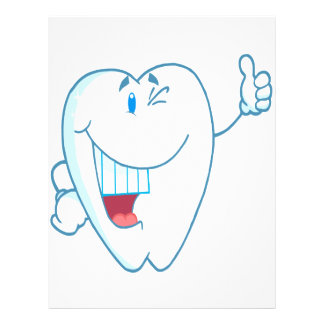 Smiling Clean Tooth Cartoon Character Thumbs Up.ai Flyer Design