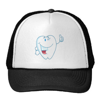 Smiling Clean Tooth Cartoon Character Thumbs Up.ai Trucker Hat