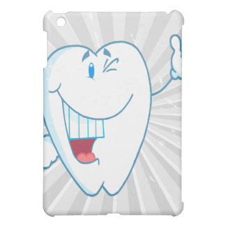 Smiling Clean Tooth Cartoon Character Thumbs Up.ai iPad Mini Covers
