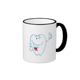 Smiling Clean Tooth Cartoon Character Thumbs Up.ai Mugs