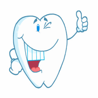 Smiling Clean Tooth Cartoon Character Thumbs Up.ai Photo Sculpture