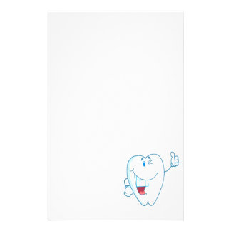Smiling Clean Tooth Cartoon Character Thumbs Up.ai Personalized Stationery